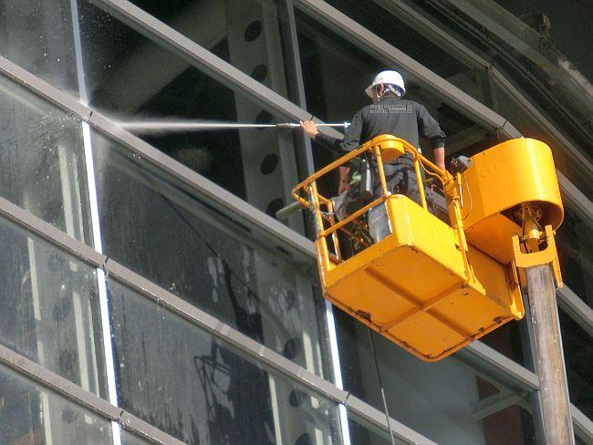 高所窓清掃1