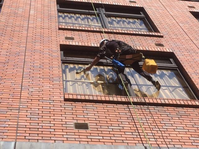 高所窓清掃